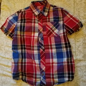 Arizona, plaid short sleeve, button down